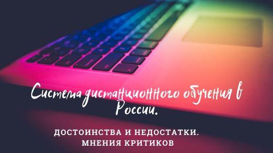 Система дистанционного обучения в России. Достоинства и недостатки. Мнения критиков