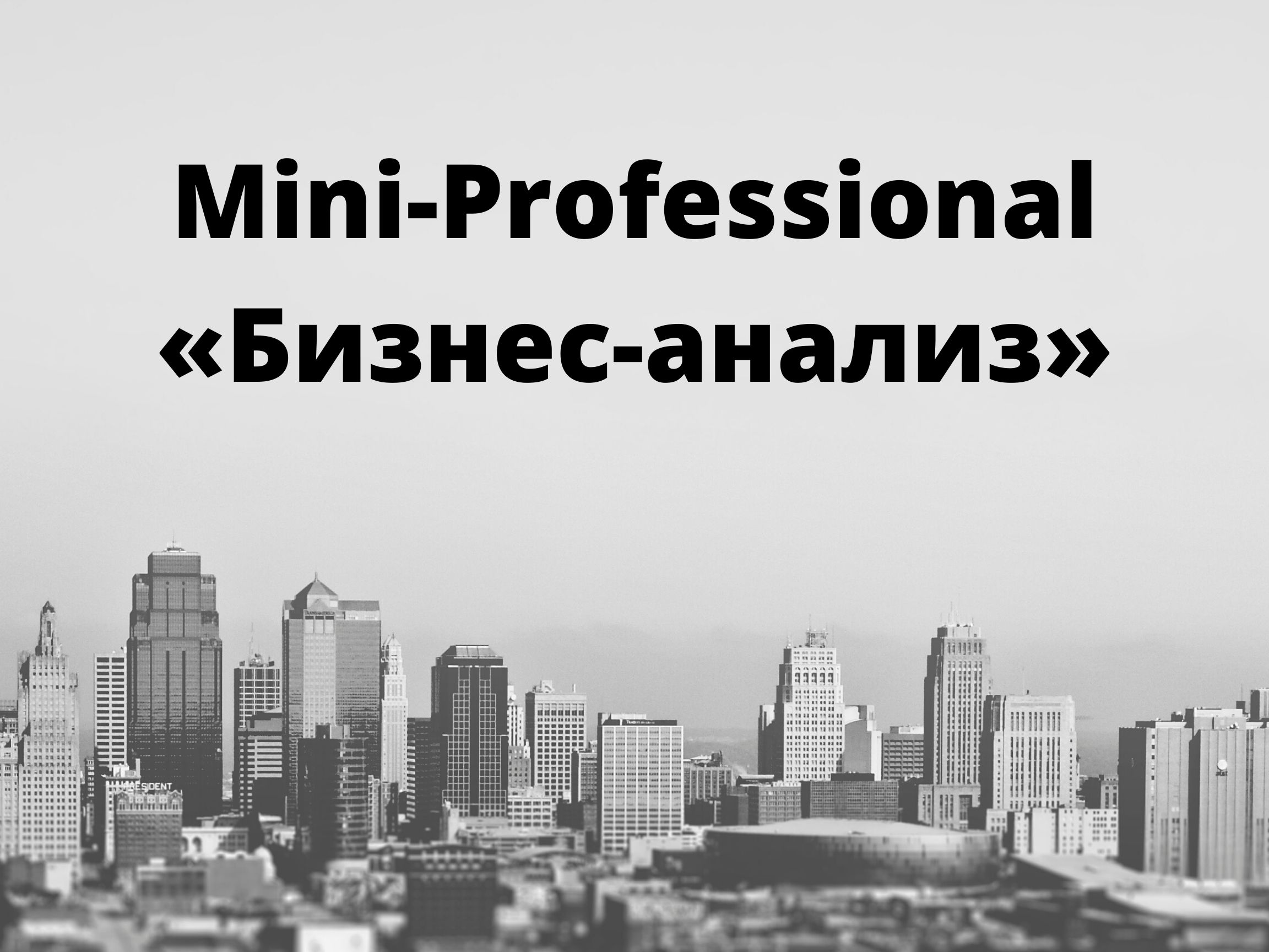 Mini-Professional «Бизнес-анализ»