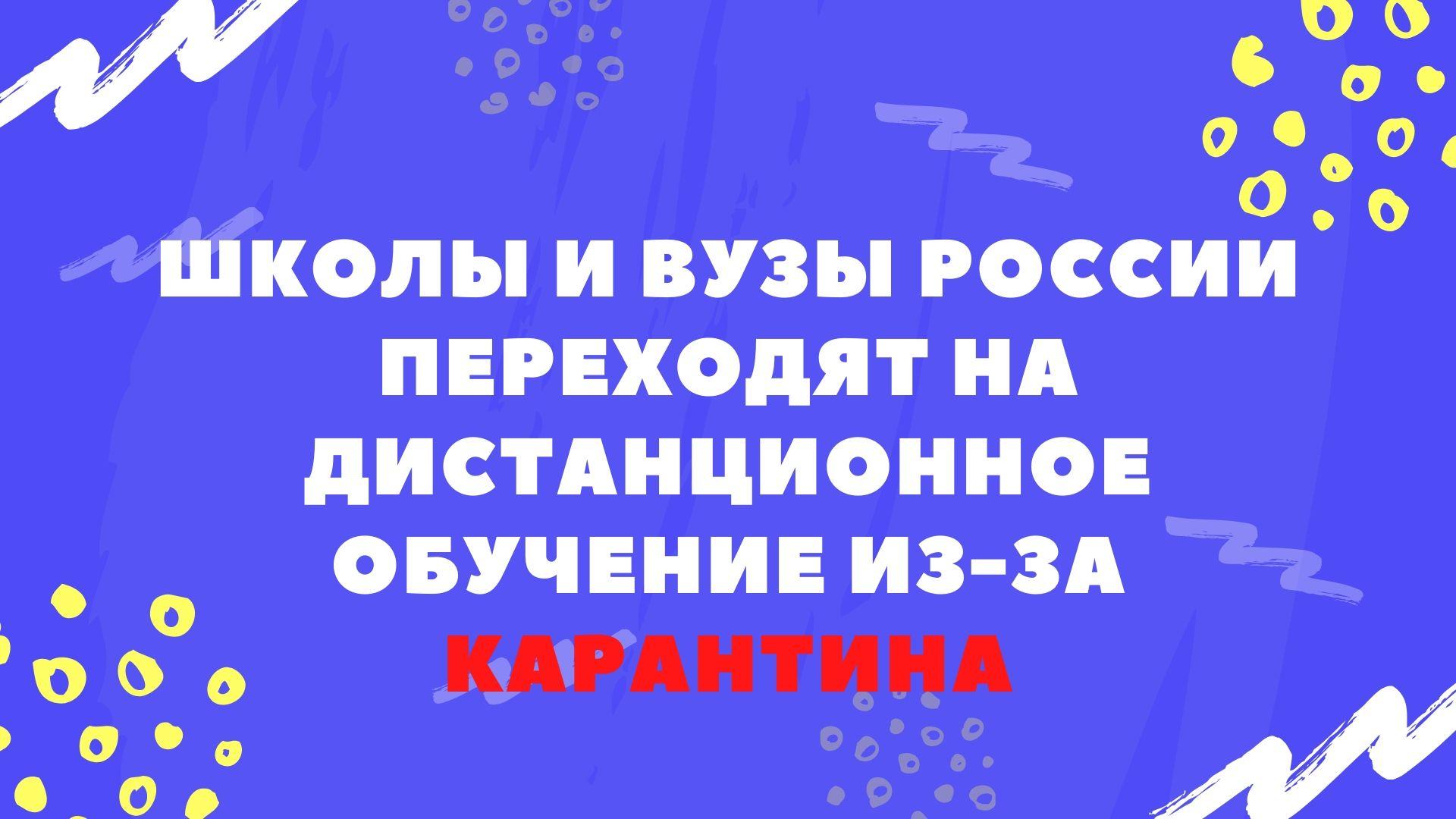 Школы и ВУЗы России переходят на дистанционное обучение из-за карантина