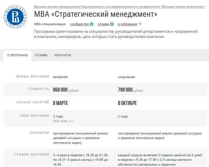 Курс МВА «Стратегический менеджмент»