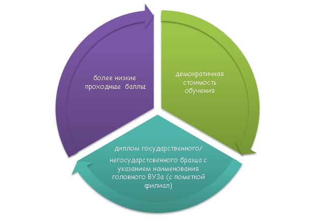 Плюсы и минусы обучения в филиалах