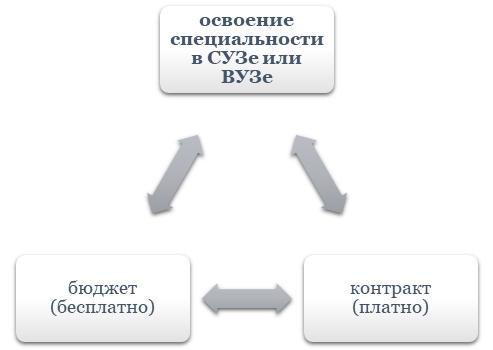 Освоение специальности в СУЗе или ВУЗе