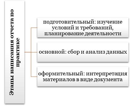 Этапы выполнения отчета по практике