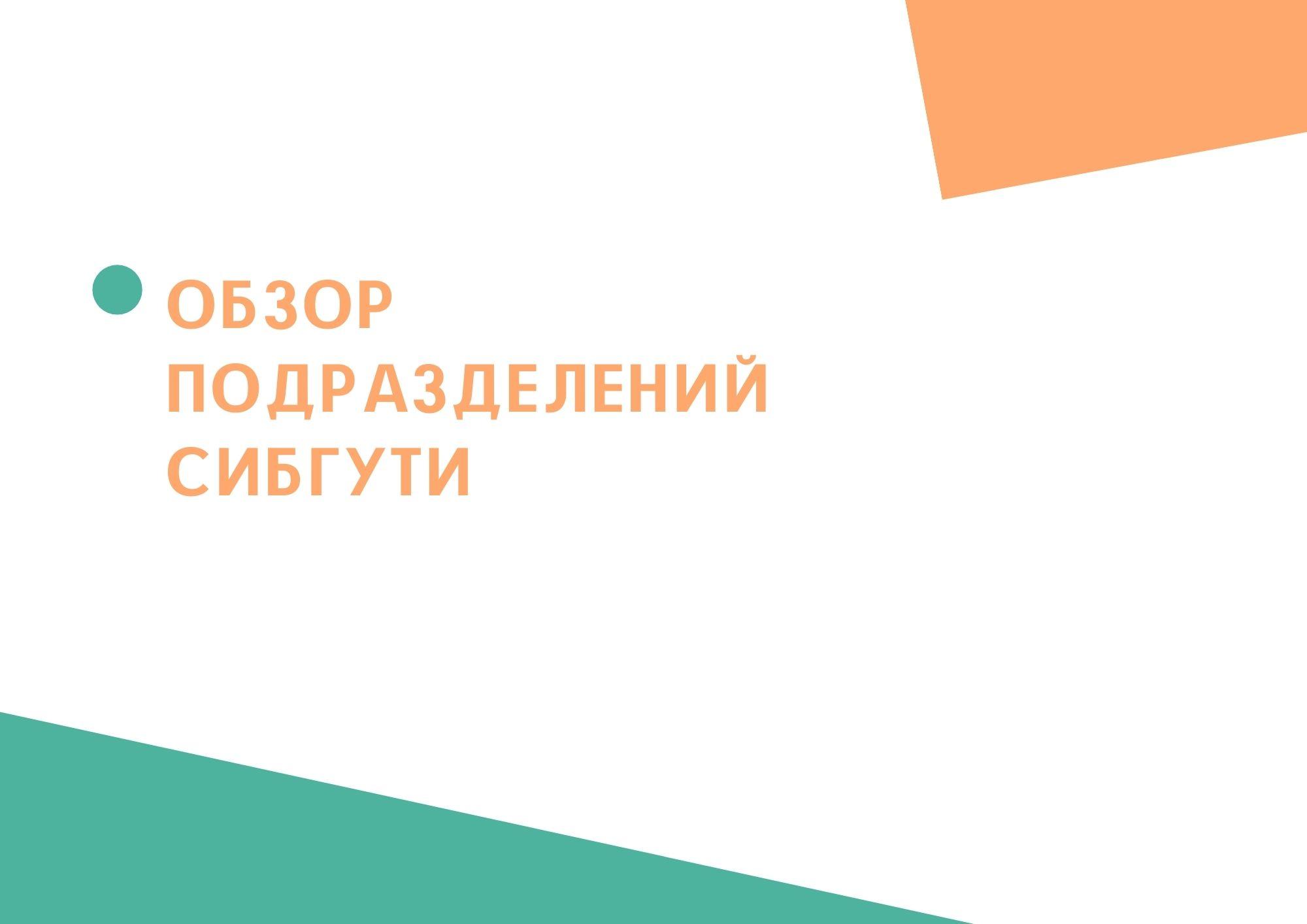 Обзор подразделений СибГУТИ